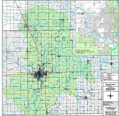 Detailed map of CRW boundaries