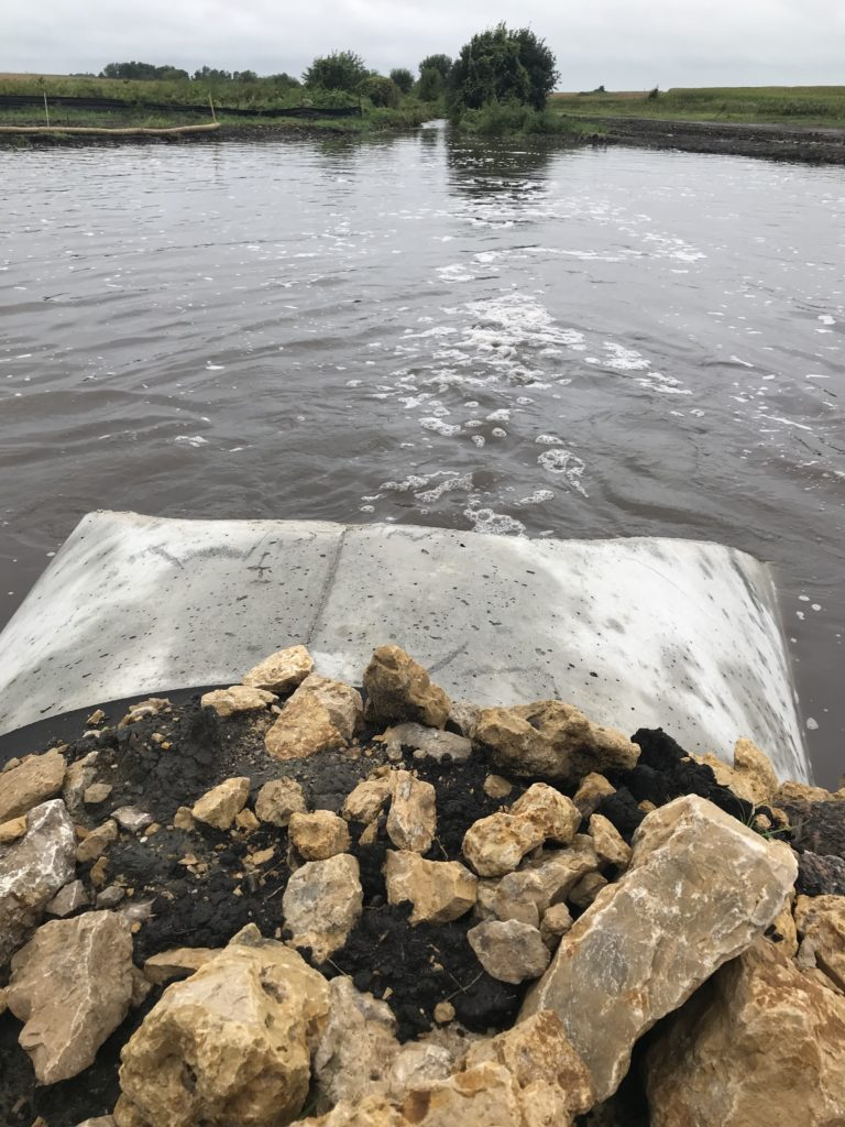 Dobbins 1 downstream berm outlet during Sept 2018 flooding